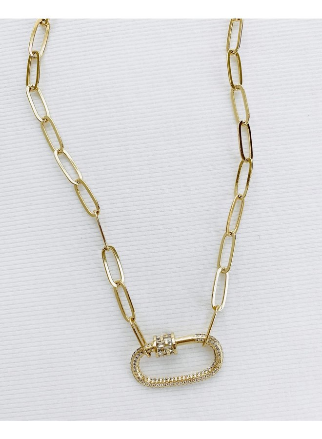 LARGE CLASP NECKLACE
