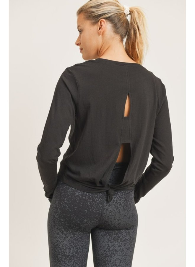 MARIA TIE BACK DOUBLE CUTOUT TOP