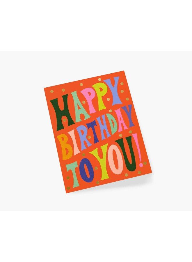 GROOVY BIRTHDAY CARD