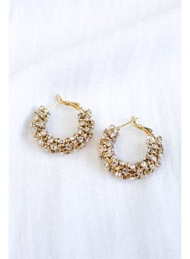 HARKNESS GOLD FILLED CZ HOOPS