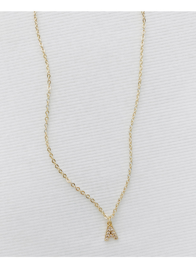 GOLD FILLED DAINTY INITIAL NECKLACES