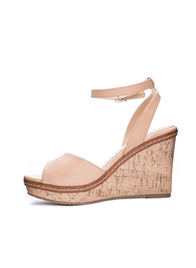 CHANCE LEATHER WEDGE