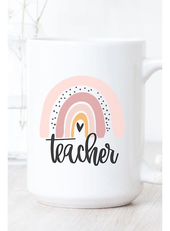 TEACHER PASTEL RAINBOW MUG