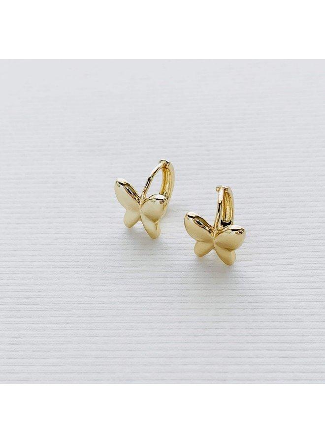 GOLD FILLED BUTTERFLY CLIP EARRINGS