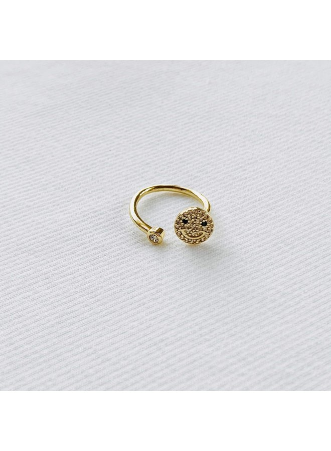 GOLD FILLED SMILEY FACE RING