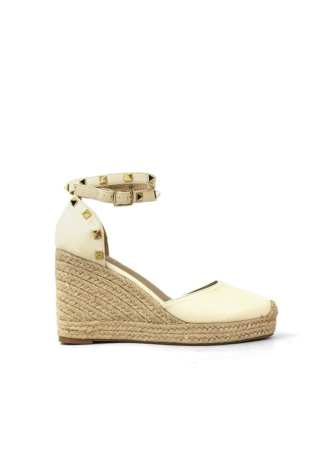 WHITNEY  WEDGE W/ STUDDED ANKLE STRAP