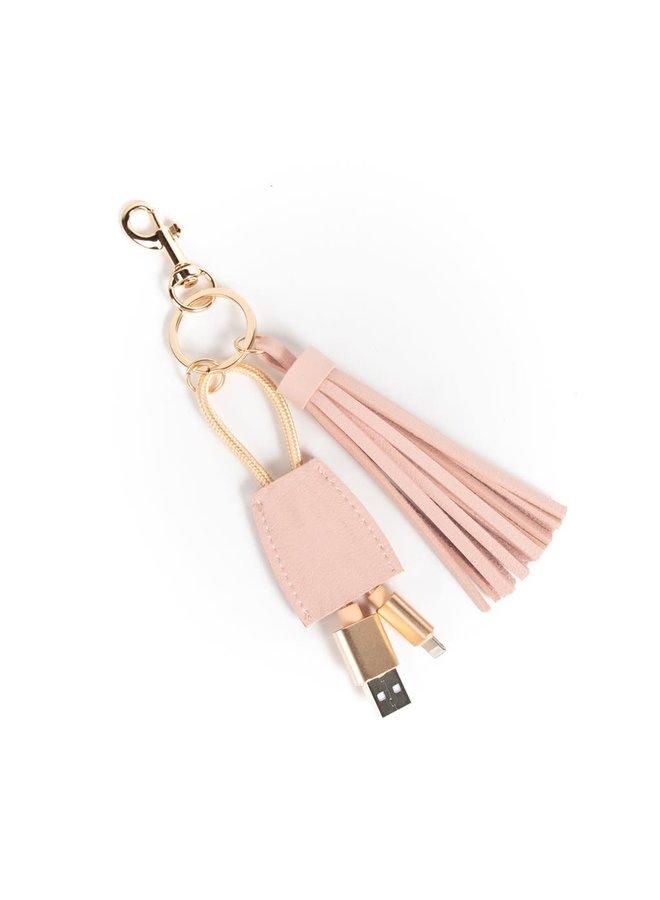 TASSEL KEYCHAIN WITH USB CORD