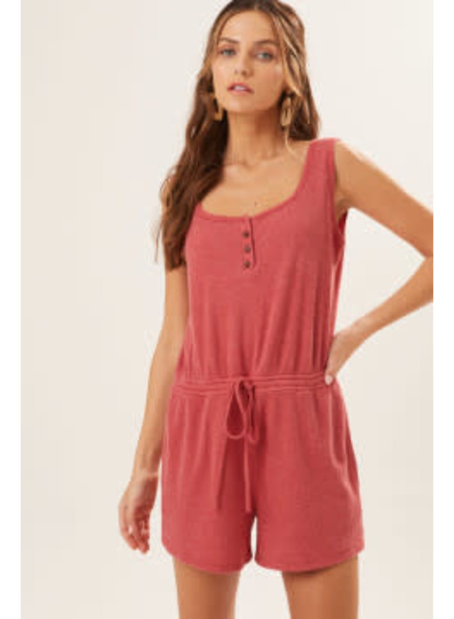 ASHLYN SLEEVELESS ROMPER WITH SNAP BUTTONS