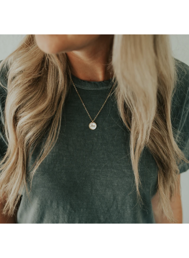 GOLD FILLED FREE PENDANT NECKLACE