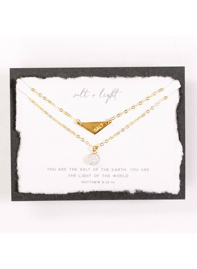 SALT + LIGHT DOUBLE CHAIN GOLD FILLED NECKLACE