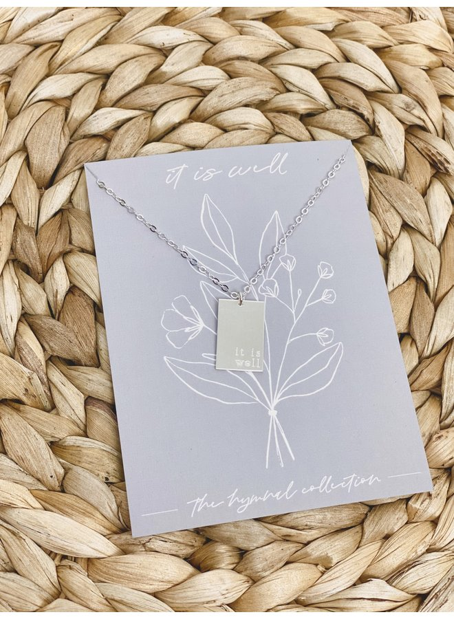 STERLING SILVER IT IS WELL NECKLACE