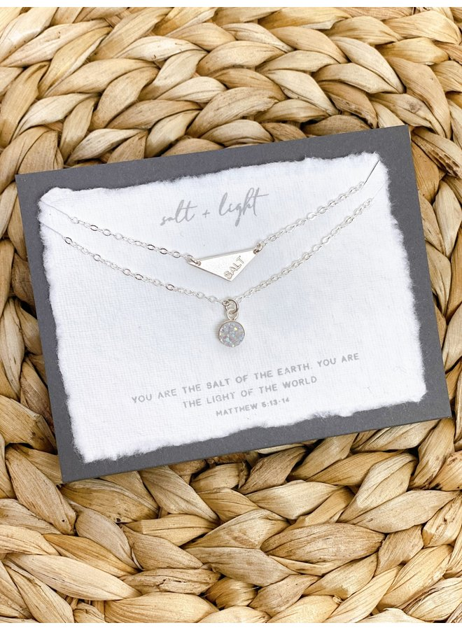 SALT + LIGHT DOUBLE CHAIN STERLING SILVER NECKLACE
