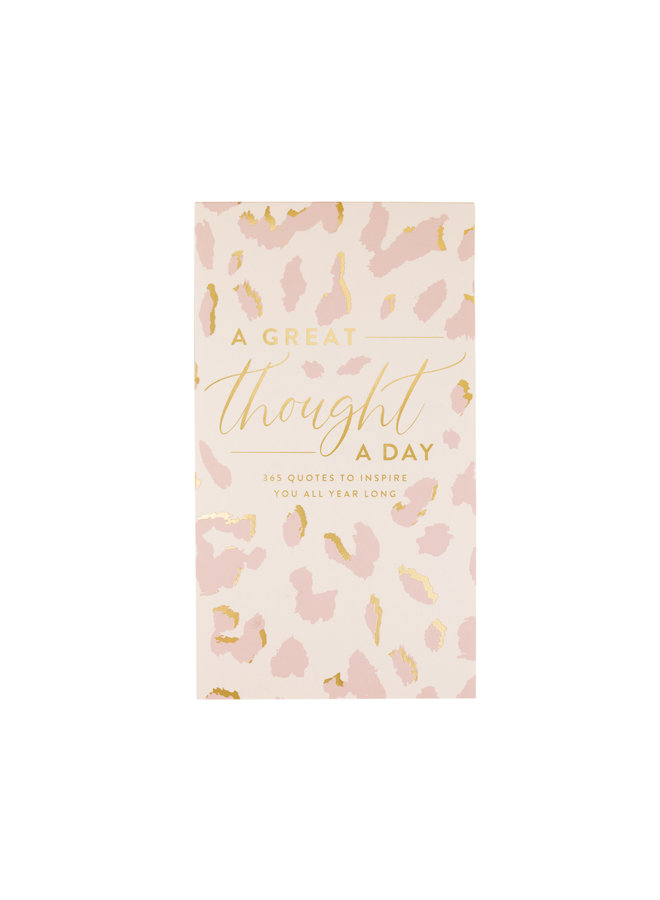 A GREAT THOUGHT A DAY PAD LEOPARD