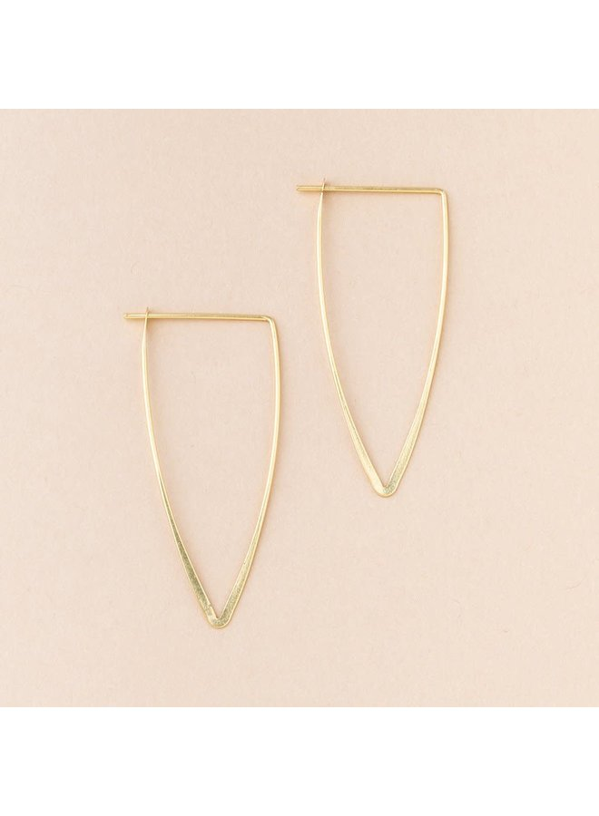 TRIANGLE EARRING- GOLD
