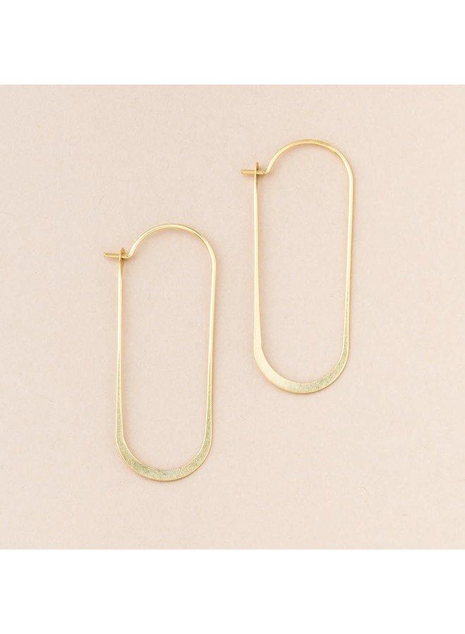 COSMIC OVAL EARRING - GOLD