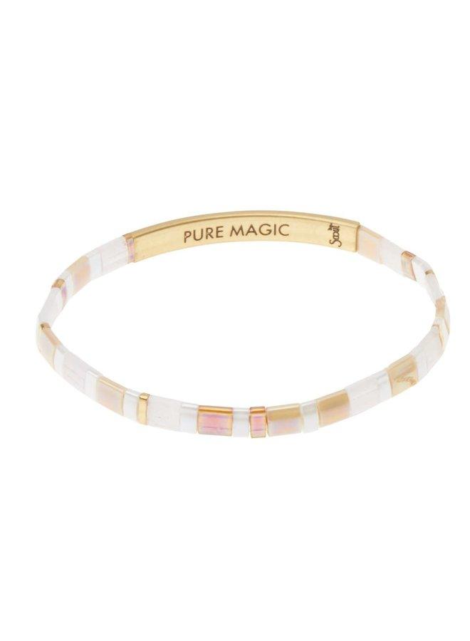 PURE MAGIC BRACELET- NEUTRAL/GOLD