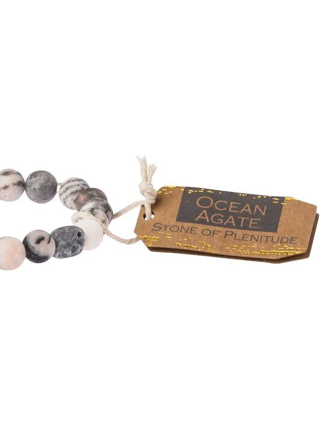 STONE OF PLENTITUDE OCEAN AGATE STONE BRACELET