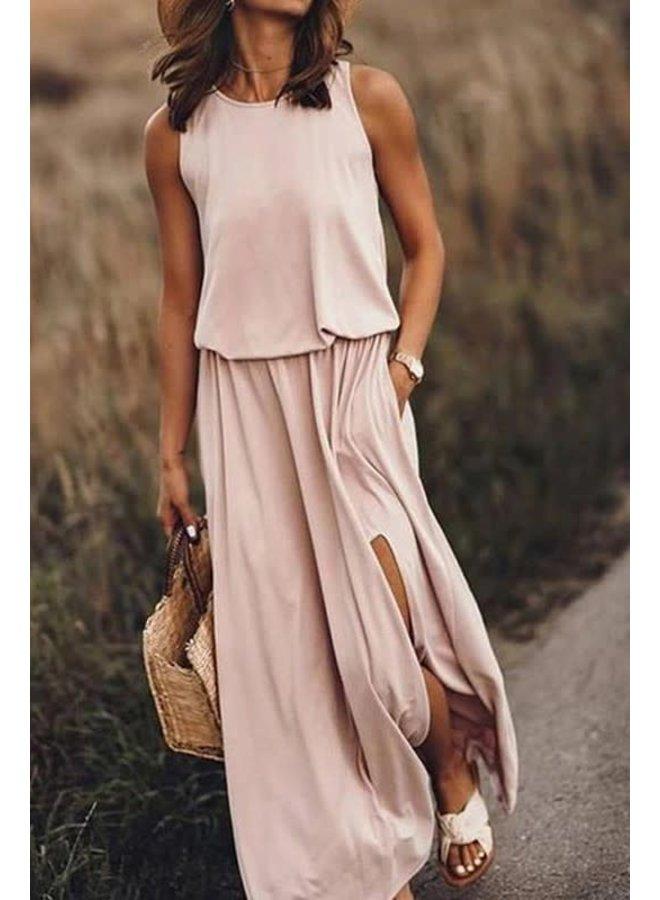 MICHELLE MAXI DRESS W/ FRONT SLIT