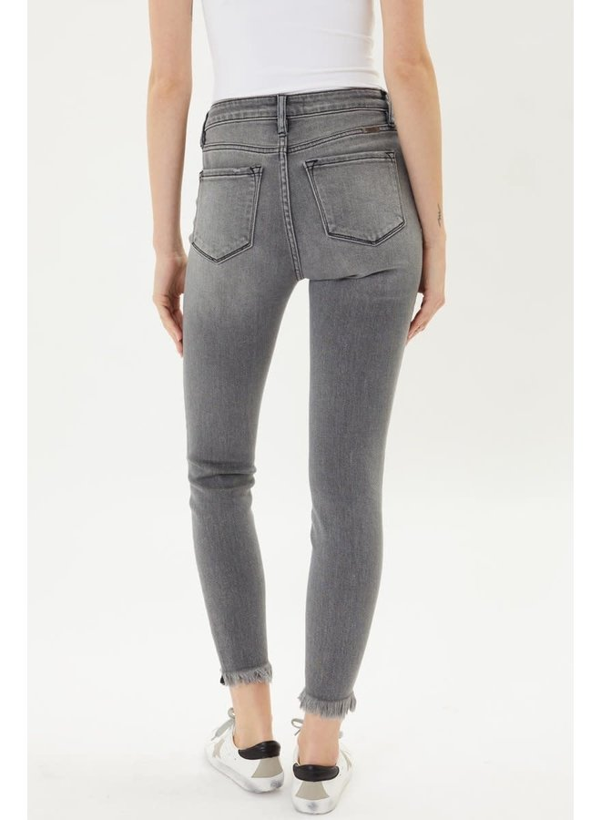 MIKAYLA HIGH RISE SKINNYS W/ DISTRESSED ANKLE