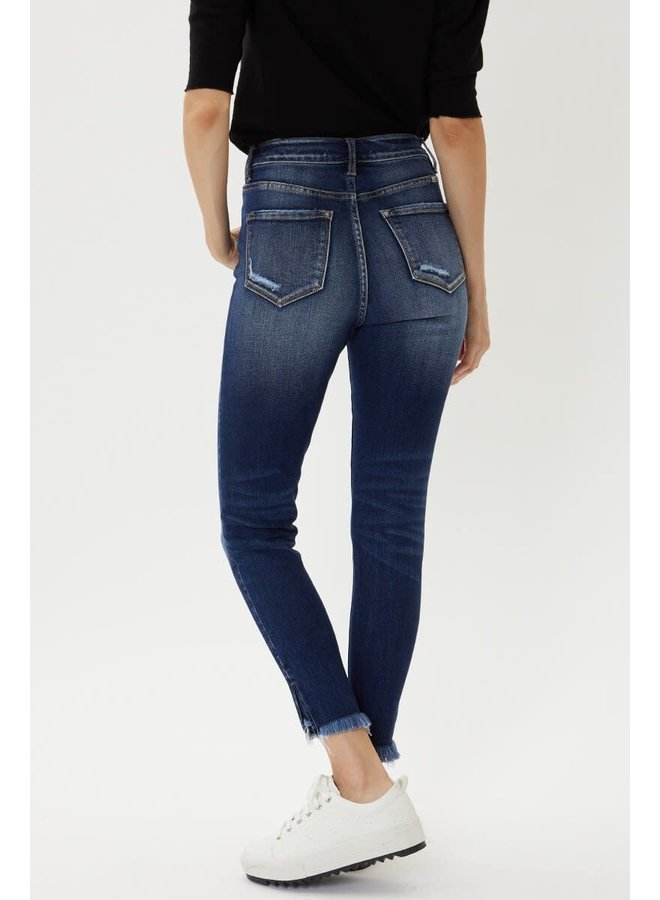 SUSAN HIGH RISE SKINNY W/ DISTRESSED ANKLE