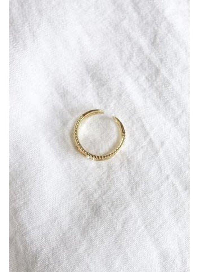 MADI TRIPLE BAR RING 16K GOLD FILLED