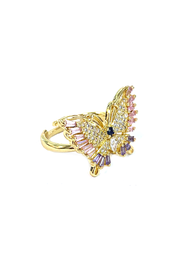 SOFIE 18K GOLD PLATED BUTTERFLY RING
