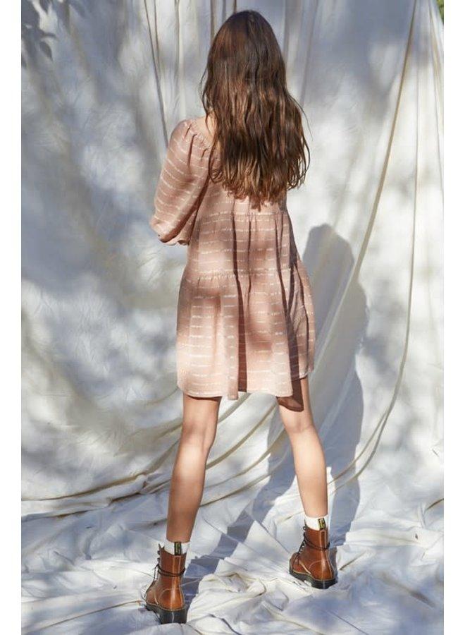 TREY WOVEN SQUARE NECK BABYDOLL DRESS