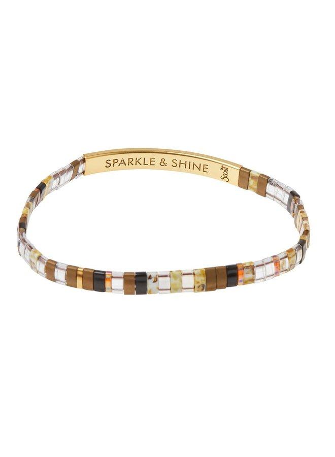SPARKLE & SHINE TOPAZ/GOLD