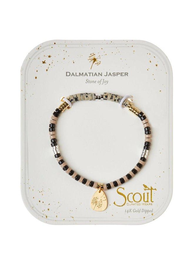 DALMATAIN JASPER/ GOLD