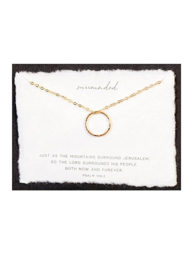 SURROUNDED GOLD FILLED NECKLACE