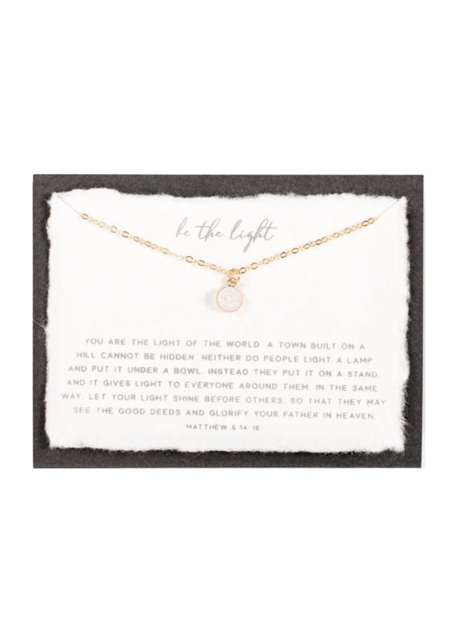 BE THE LIGHT GOLD FILLED NECKLACE