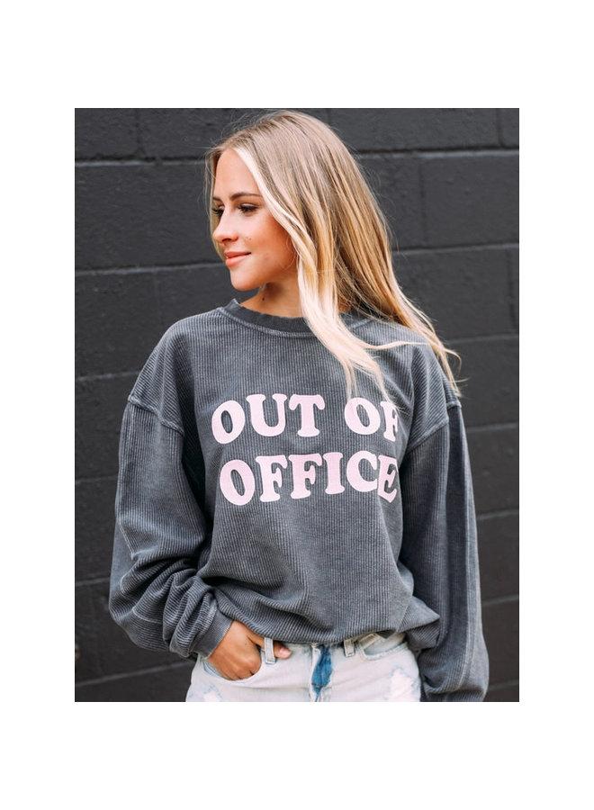 OUT OF OFFICE CORDUROY SWEATSHIRT