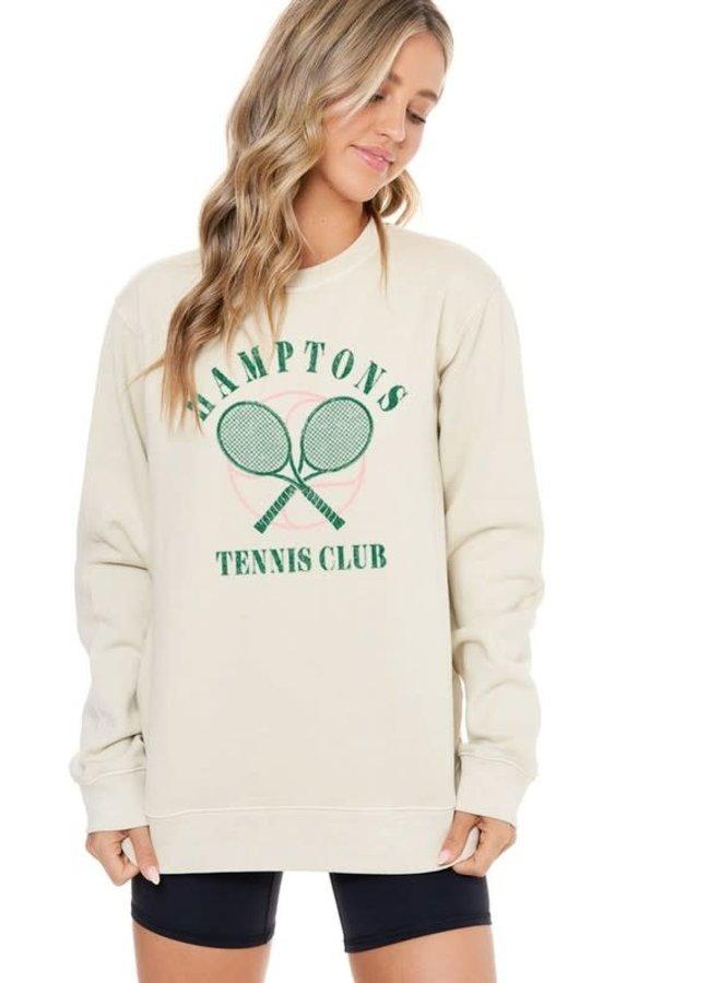 HAMPTONS TENNIS CLUB FRENCH TERRY SWEATSHIRT