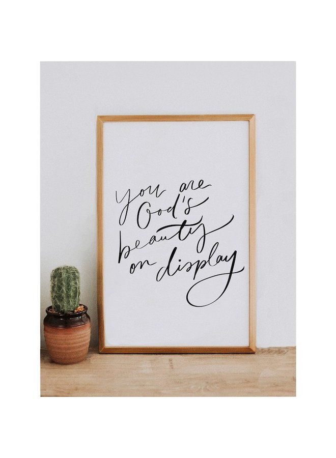 YOU ARE GOD'S BEAUTY BANNER 11X17