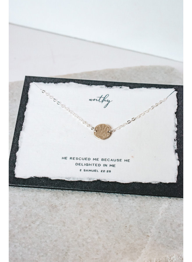 WORTHY STERLING SILVER NECKLACE