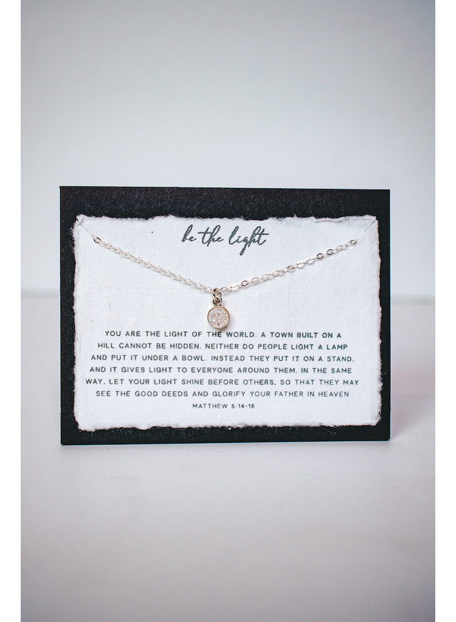 BE THE LIGHT STERLING SILVER NECKLACE