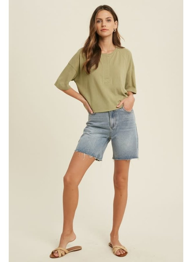 PIPER BUTTON FRONT KNIT TOP