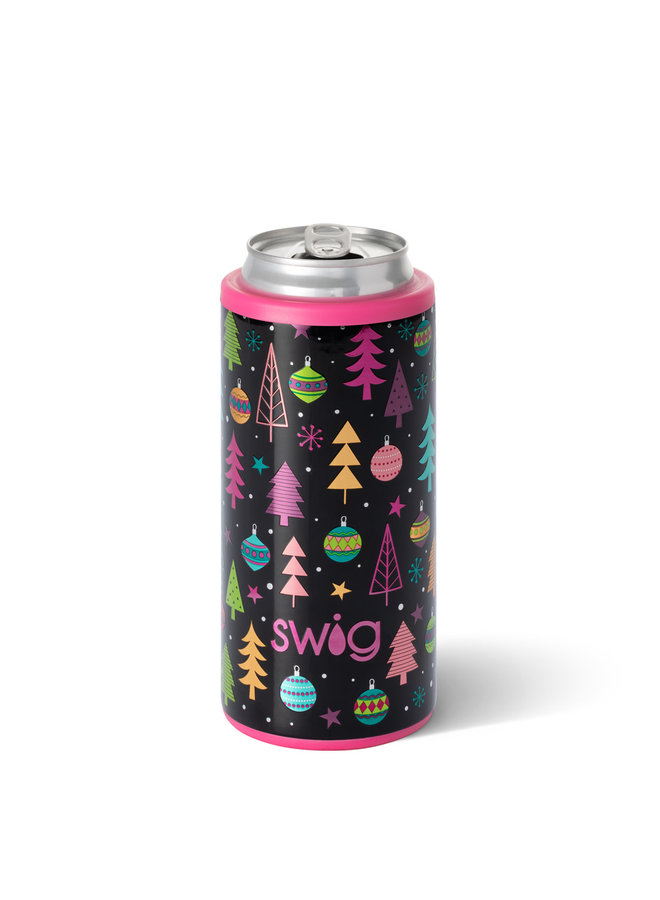 SWIG 12oz MERRY & BRIGHT SKINNY CAN COOLER