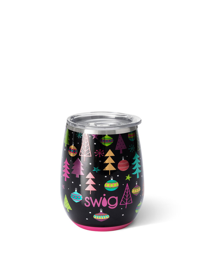 SWIG 14oz STEMLESS WINE CUP MERRY & BRIGHT