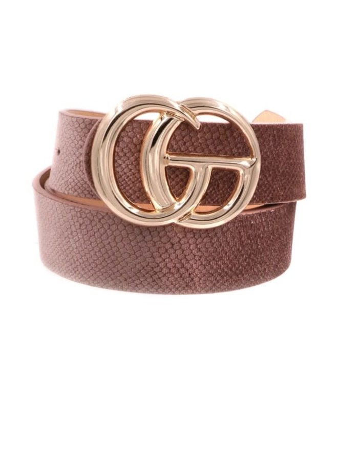 """GIRL BOSS FAUX PRINTED LEATHER BELT 1 1/4"""""""