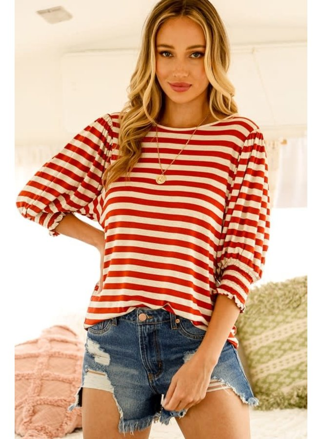 OLLIE STRIPED TOP