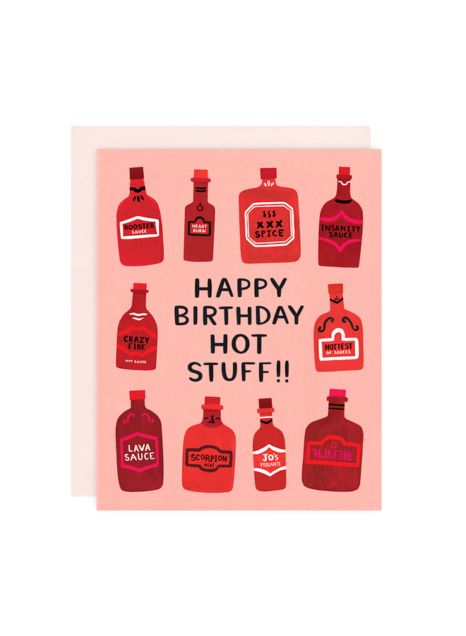 HOT STUFF BIRTHDAY CARD