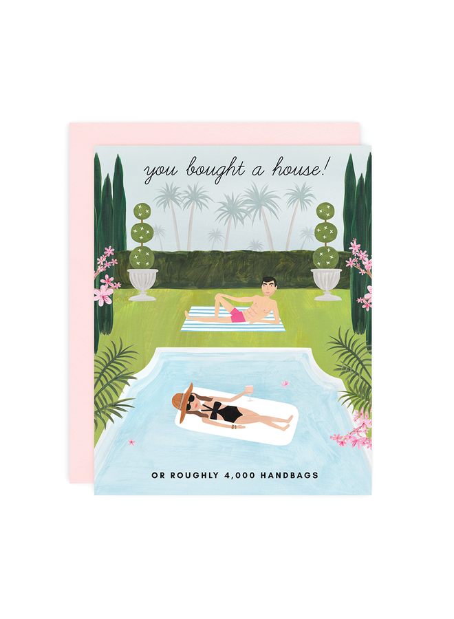YOU BOUGHT A HOUSE! CARD