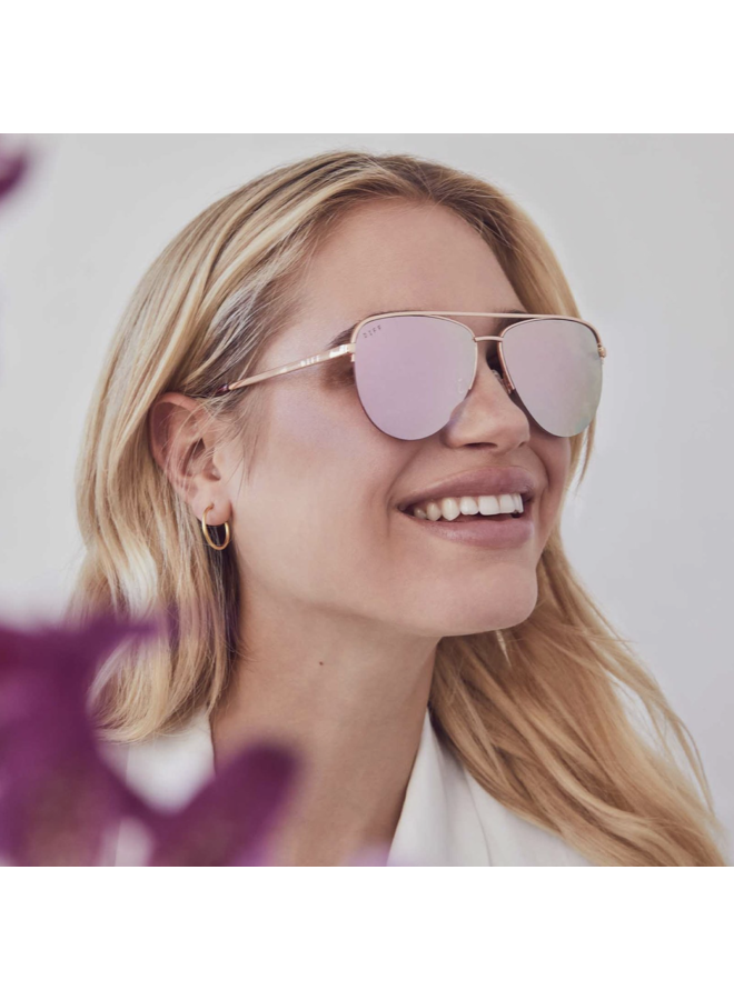 TATE - ROSE GOLD + CHERRY BLOSSON MIRROR LENS