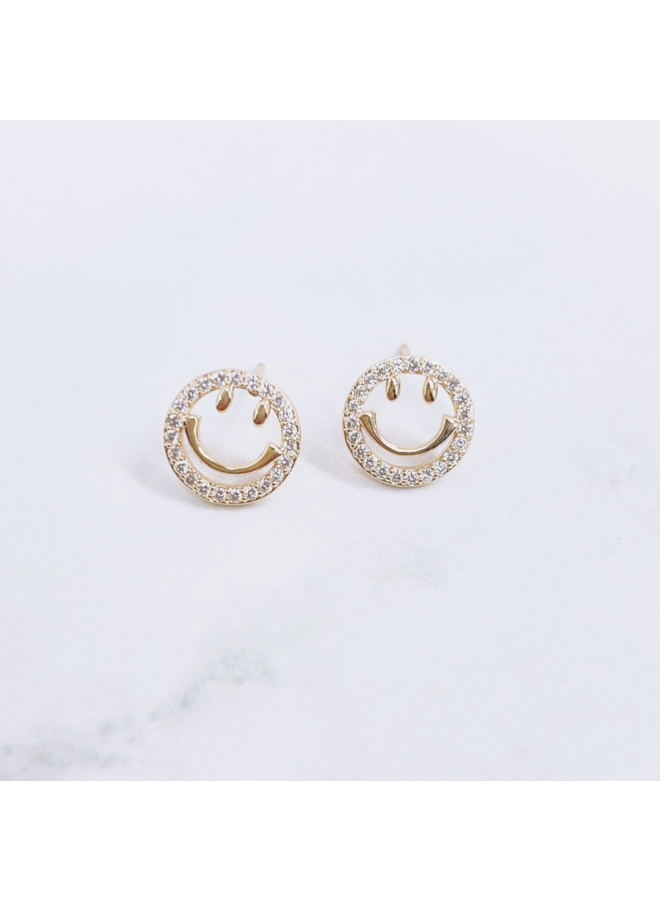 SMILEY NECKLACE STUD