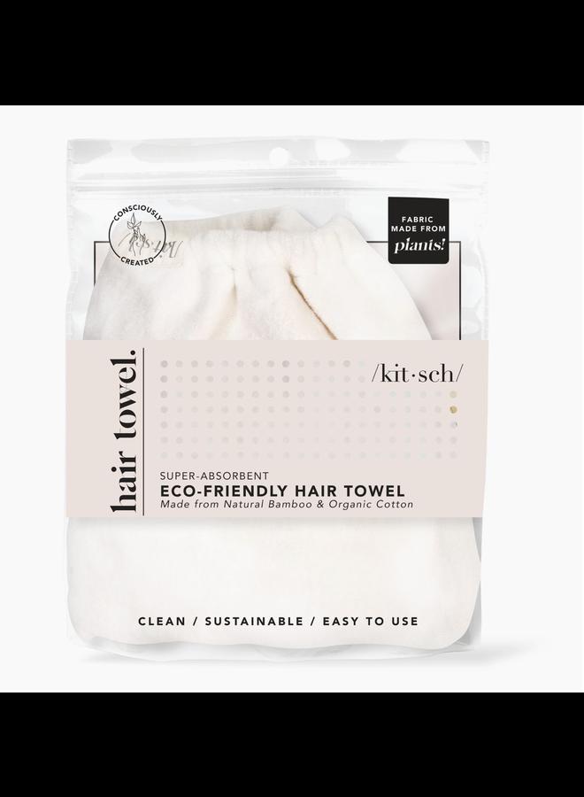 MICROFIBER HAIR TOWEL- IVORY