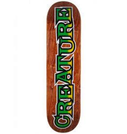 Creature - skateboard long logo  hard rock