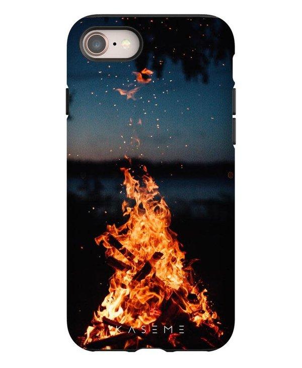 Kaseme - Étui cellulaire iPhone camp fire