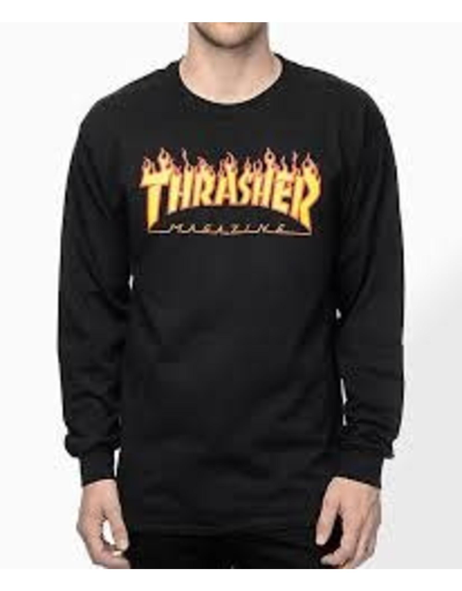 thrasher Thrasher - chandail long flame logo
