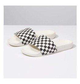 vans Vans - Sandale  femme slide -on (checkerboard)white/black